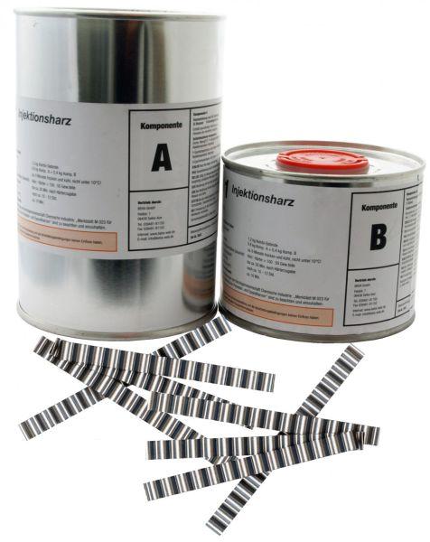 1,2 kg Epoxidharz, Gießharz, Laminierharz, Rissharz, Injektionsharz INTOPOX R101+30 Estrichklammern
