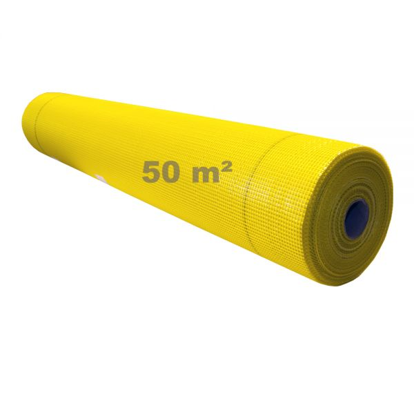 Beha Armierungsgewebe Glasgittergewebe Putzgewebe WDVS Gewebe 165g/m² 4 x 4 mm   50 m Rolle