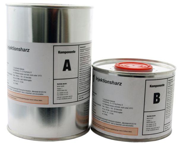 Beha 1,2 kg Epoxidharz, Gießharz, Laminierharz, Rissharz, Injektionsharz INTOPOX R101